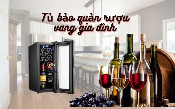 Tủ bảo quản rượu vang gia đình